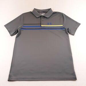 Under Armour Youth Boys Size YXL Gray Golf Polo Shirt Casual