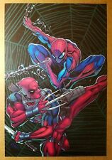 Deadpool Spider-Man Marvel Comics Poster by Patrick Zircher