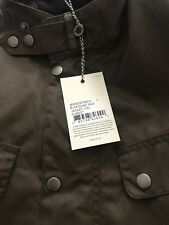 BARBOUR ASHBY WAXED JACKET in OLIVE - LARGE RRP £199