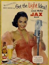 "Dorothy Dandridge Advertising Poster Jackson Brewing 1950s 14 x 11"" Photo Print"