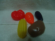 PRETEND PLAY FOOD VEGETABLES FOR LITTLE TIKES KITCHEN EGG PLANT,CORN,TOMATOE ++