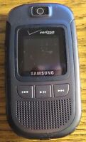 Lot of 4 READ Samsung U640 Verizon Convoy Cell Phone Gray Fast Ship Good Used