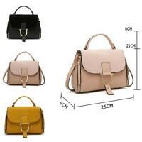 Women's Designer Style PU Shopper Bag Front Buckle Ladies Handbag