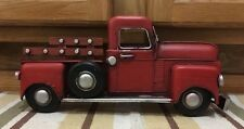 Red Ford Chevy Toy Pickup Truck Shop Coke Gas Oil Vintage Style Wall Decor