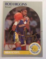 Rod Higgins 1990 Hoops Hand Signed Card Golden State Warriors