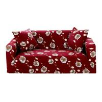 Simple Floral Print Stretch Tight Wrap Slipcovers Elastic Sofa Couch Cover