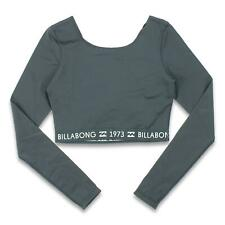 New listing Billabong Womens Fresh Vibes Long Sleeve Crop Rashguard Black M New
