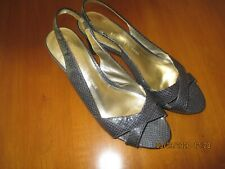 Women's shoes by Etienne Aigner- gently used size 7.5 blue, 2.5 inch heel