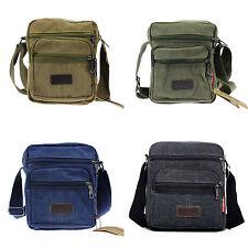 Mens Casual Military Canvas Travel Camping Satchel School Shoulder Bag Messenger