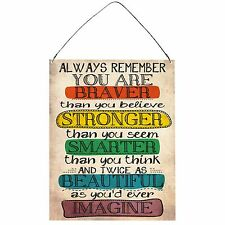 Always Remember Inspirational Funny Retro Vintage Wall Metal Plaque Sign 15x20cm