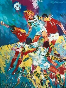 1975 LeRoy Neiman Tampa Bay Rowdies Soccer Color Lithograph Vintage Poster