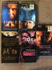Lot of 5 VHS Movies Thriller & Mystery Rated R  Pitt, DeNiro, Hopkins, Snipes