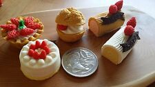 IWAKO JAPANESE MINIATURE ERASER CAKE SET OF 5 XMAS PRESENTS