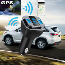 Black Dual USB 4.2A Car Charger Adapter Blue LED Fast Charging with GPS Tracker