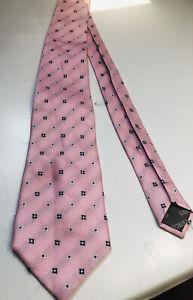 Giorgio Armani Men's 100% Silk Neck Tie  Made in Italy Pink Multicolors