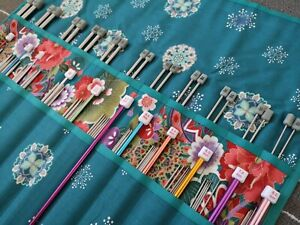 Handmade knitting Needle Case/ Organizer / Holder / tunisian crochet/ ideal gift