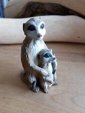 2006 Meerkat with Baby Safari Ltd Incredible Creatures 4.5� Hard Figure O