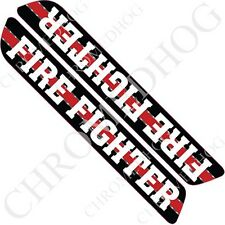 Premium 3M Sticker Set - Pair Glossy Car Truck Window Decal - Fire Fighter RL