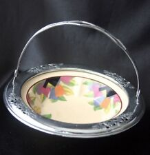 Art Deco Farberware Umbertone Bowl in Chrome Holder