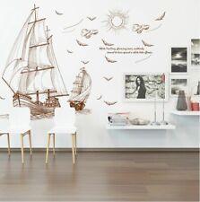 Wandaufkleber Wandtattoo Wandsticker Schiff Segelschiff Seeschiff #181
