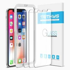 For iPhone Ten XS Screen Protector 3 Pack Case Friendly Tempered Glass W Frame