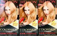 (3) Revlon Colorsilk Butter Cream 90 / 81N Light Natural Blonde All In One Dye