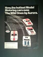 1969 Aurora Slot Car Model Motoring Racing Club HO Wild Ones Toy Promo Trade AD