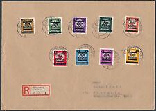 Lokalausgabe Glauchau 1945 Parteidienstmarken Beleg Einschreiben (S13870)