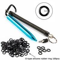 Wacky Worm Kits Rig Tool & 100Pcs O Rings For Fishing Good BLUE &O Sporting S0J5