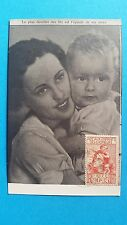 FRANCE CARTE MAXIMUM YVERT 428 ENFANTS DES CHOMEURS 90C + 35C PARIS 1939 L 347