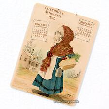 Antikamnia 1900 Calendar #6 Deco Magnet, Antique Illustration Skeleton Fridge