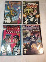 Lot Of 4 Marvel Comics 1991 The Punisher War Journal