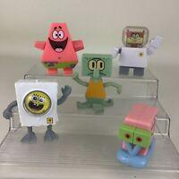 """Spongebob Squarepants Burger King Toys Truth or Square Figures 5pc 3.5"""" Lot 2009"""