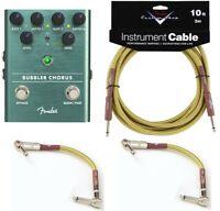New Fender Bubbler Chorus Guitar Pedal FREE Fender Cables