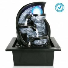 SereneLife SLTWF72LED Electric Water Fountain Decor