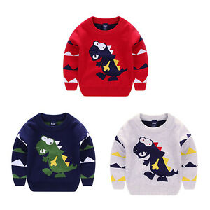 Kids Boys Stylish Cardigan Knitted Winter Sweaters Pullover Coat Top Casual Wear