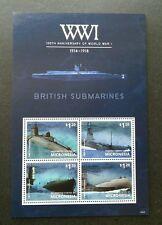 Micronesia 100th Anniversary Of WW1 British Submarine 2014 War (sheetlet) MNH