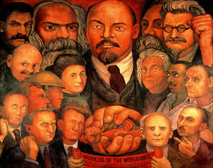 Diego Rivera Proletarian Unity Print 11 x 14    #3873