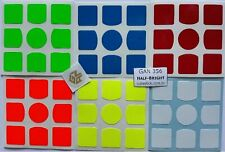Stickers to GansPuzzle Gans356 Set Half Bright Colours to Magic Cubes