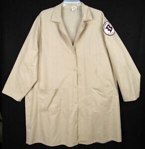 Vintage Angelica Lab Coat Adult XL Beige MacNeal Hospital Berwyn Illinois Patch
