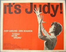 I COULD GO ON SINGING half sheet movie poster 22x28 JUDY GARLAND 1963