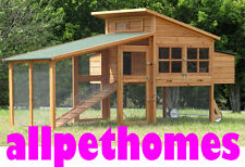 XLARGE Chicken Coop Hen house UP TO 9 Chooks,  Hutch Cage LARGE NEW STYLE G19