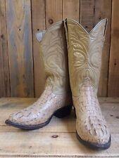 vtg GATOR SKIN leather WESTERN cowboy BOOTS size 7 BIKER flashy ROCKSTAR