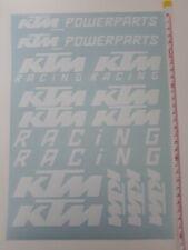 KTM Sticker Aufkleber 15st. Set Motorrad Tuning CROSS QUAD WEISS