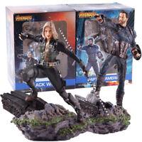 Iron Studios Avengers Infinity War Captain America Black Widow PVC Figure Model