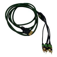 Monster Green 10ft Component AV Cable Gold Plated for Original OG Xbox - Tested