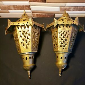 Brass Antique Iran Lantern Candle Torch Metal Potpourri Holder ? Handmade forged
