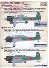 Print Scale Decals 1/72 NAKAJIMA B6N TENZAN JILL Japanese Torpedo Bomber