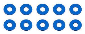 Team Associated 31384 - Aluminum Bulkhead Washers, 7.8x0.5 mm, Blue