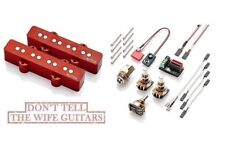 EMG JVX Red Active Jazz Bass J Neck & Bridge Pickup Set Retro Alnico V Magnets
